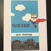In the Sky Superhero Father's Day Handmade Card