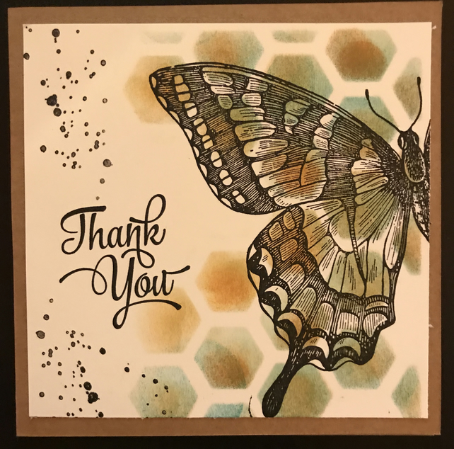 "Thank You ""Swallowtail"" Set of 4 cards"