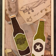 "Birthday ""Aviator Have a Brew"" Card - can be Personalised"