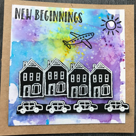New Beginnings Brusho Card