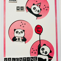 "Valentine ""Be Mine"" ft. Party Pandas Card"