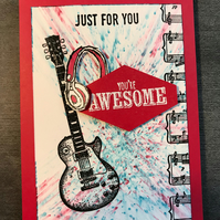 "Birthday ""You're Awesome"" Musician Card"