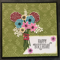 "Birthday ""Bouquet of Flowers"" Card"