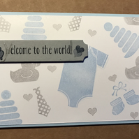 "New Baby ""Welcome to the world"" Card"