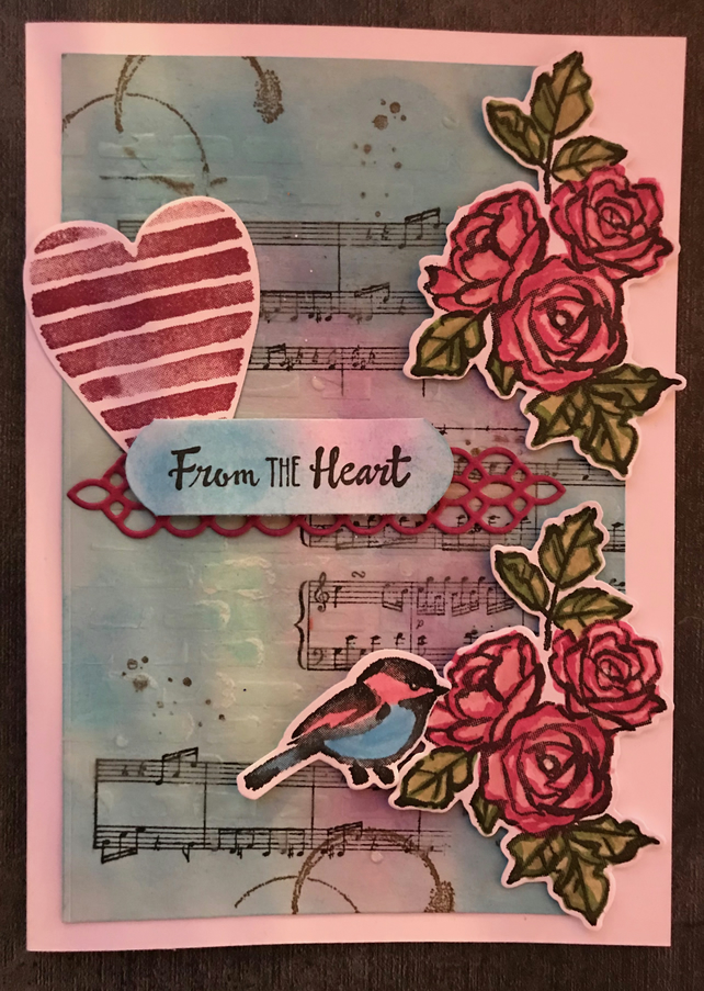 "With Sympathy ""From the Heart"" Card"