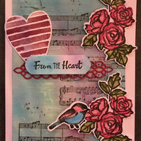"Valentine ""From the Heart"" Card"