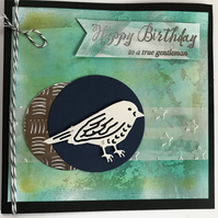"Birthday ""True Gentleman"" Best Birds Card Personalised"