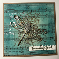 "Birthday ""Musical Dragonfly"" Card"