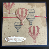 "Birthday ""Vintage Balloons"" Card"