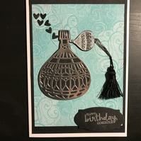 """Happy Birthday Gorgeous"" Perfume Bottle Card"