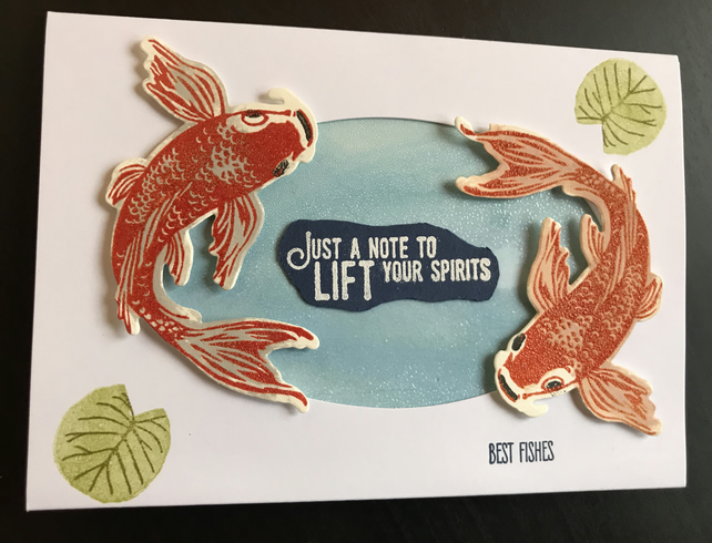 "Thinking of You ""Koi"" Card"