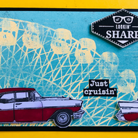 "Father's Day ""Just Cruisin' Vintage Classic Car"" Card"