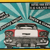 "Birthday ""American 1950's Classic Car"" Card"