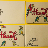 "Set of 2 ""Bird Banter"" Thank You Cards"