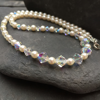 Swarovski Pearl and Crystal Necklace.