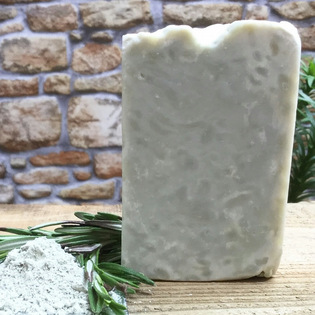 All Natural Rosemary Essential Oil & French Green Clay Soap. 130g