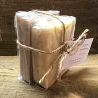 "Handmade ""Clay Duo"" Soap Gift Set. Kaolin & Rhassoul. Unscented."