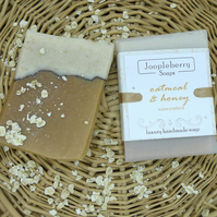 Oatmeal & Honey Unscented Handmade Soap. 120g