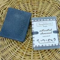 Unscented with Activated Charcoal Handmade Soap. 120g