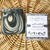 Activated Charcoal and Tea Tree Essential Oil Handmade Soap. 95g