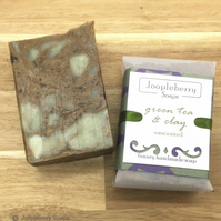 Green Tea and French Green Clay Unscented Handmade Soap. 120g