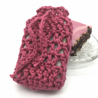 Heather Crocheted Soap Sock Saver Pouch.