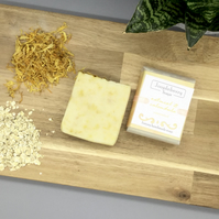 Oatmeal and Calendula Unscented Handmade Soap. 110g