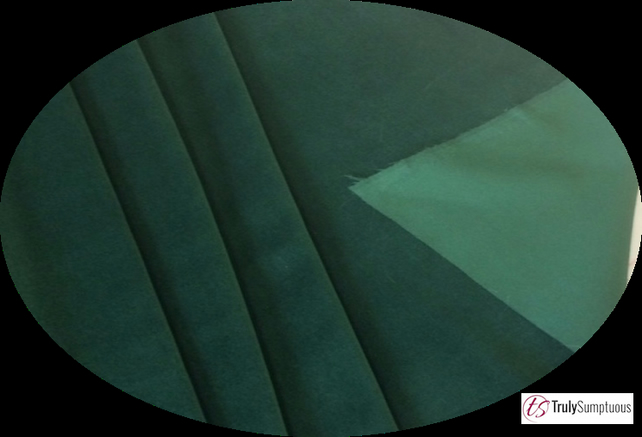 Bottle Green colour Light Weight Cotton Dressmaking Velvet - 112 cms 240gsm