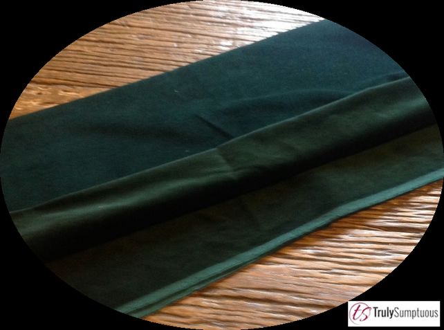 Dark Green Colour Light Weight Cotton Dressmaking Velvet - 112 cms 240gsm