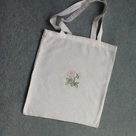 Hand embroidered shopping bag
