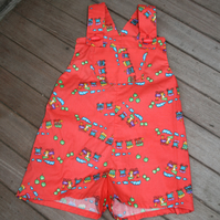 Baby dungaree shorts, dungarees, toddler dungaree shorts, retro, shorts