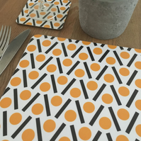 Yellow Placemat, tablemat, place setting