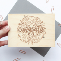 Floral Congrats Card - Card for Mum, Congratulations Card, Floral Card Messages