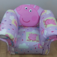 Childs Armchair in Peppa Pig theme fabric