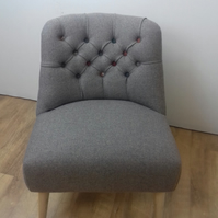 Cocktail chair in Abraham Moon 100% wool fabric