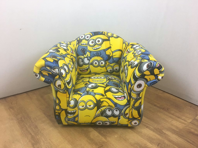 Children's Armchair in Minions Themed Fabric