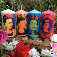 Four Mexican Frida Kahlo Kitsch Scented Candles