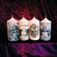 Four Scented Macabre Memento Mori Gothic Death Candles