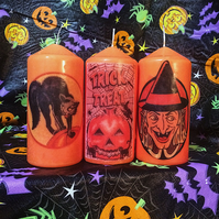 Retro Kitsch Halloween Scented Candles