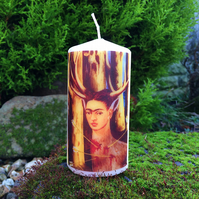 The Wounded Deer Kitsch Mexican Frida Kahlo Self Portrait Scented Candle