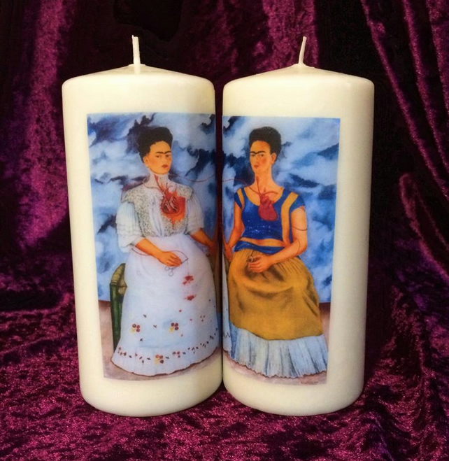 The Two Fridas Mexican Frida Kahlo Self Portrait Vanilla Scented Candle