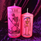 Pink Kitsch Mexican Death Grim Reaper Tarot Handmade Scented Candles