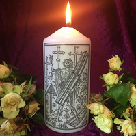 White Gothic Macabre 16th Century Death Jasmine Scented Candle