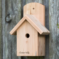 Bird nesting box, sparrow, bird house, hand made, western red cedar - Malpas