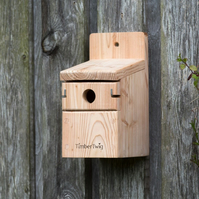 Bird nesting box, sparrow, bird house, hand made, western red cedar - Penpillick