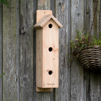 Bird nesting box, sparrow, bird house, hand made, western red cedar - Tregony