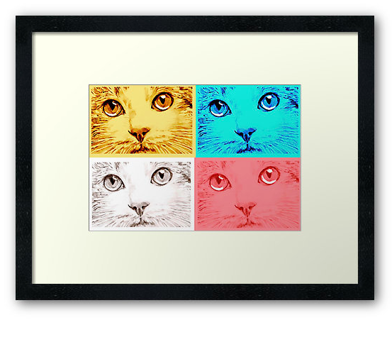 A Clowder of Cats Framed Print