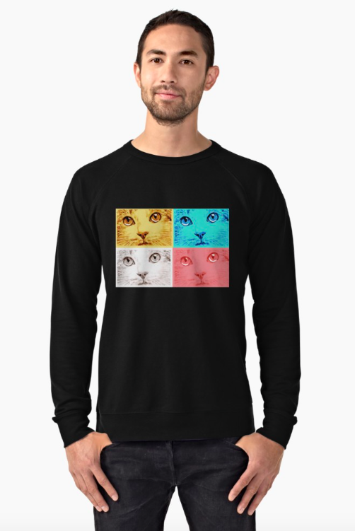 A Clowder of Cats Lightweight Sweatshirt
