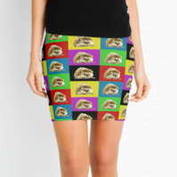 Array of Hedgehogs Mini Skirt