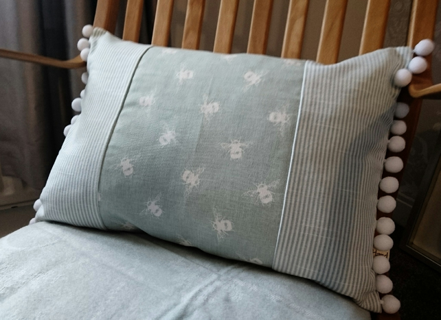Bees and Stripes cushion cover